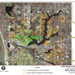 map of Spring Lake and Ferrysburg with grid overlay to indicate testing zones