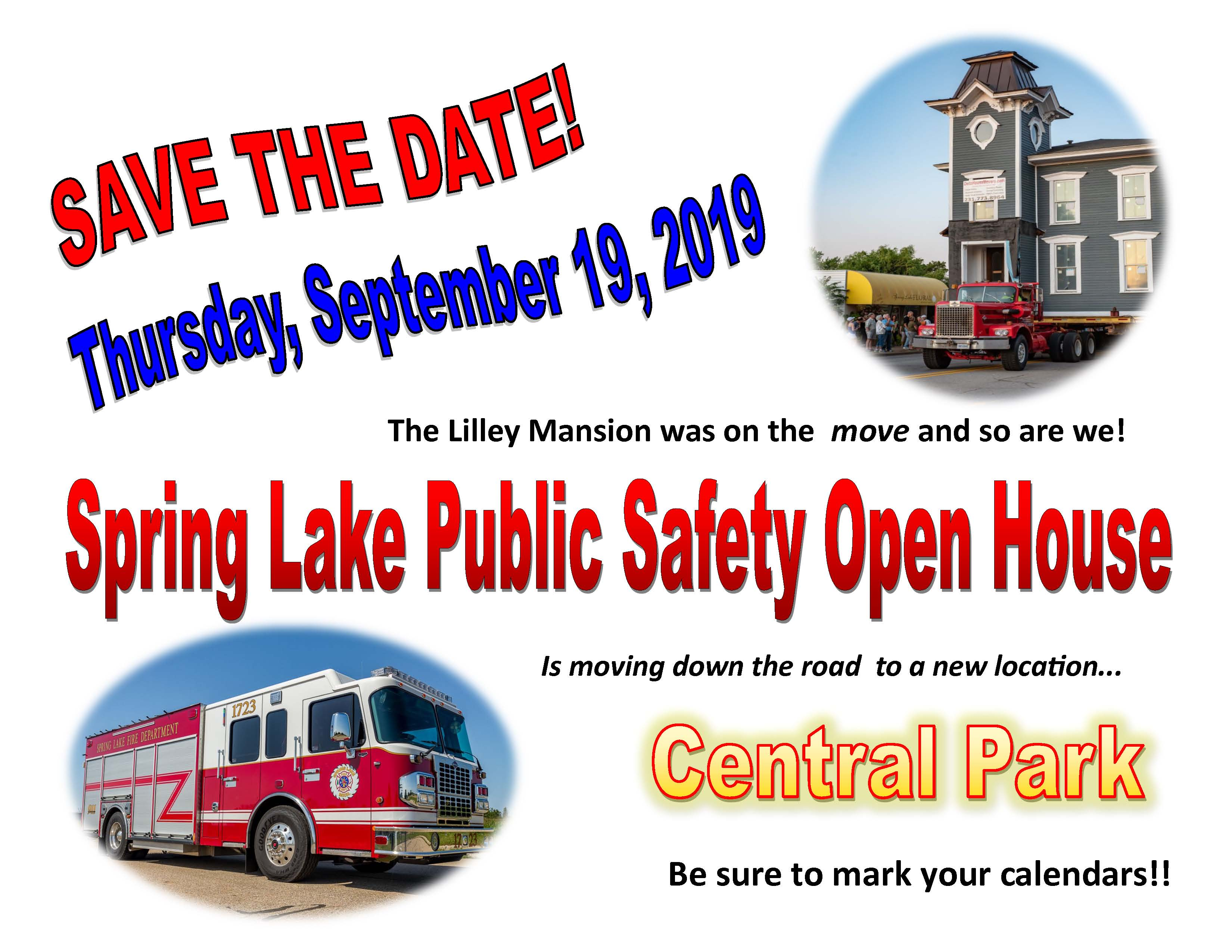 fire open house notice for September 19 2019