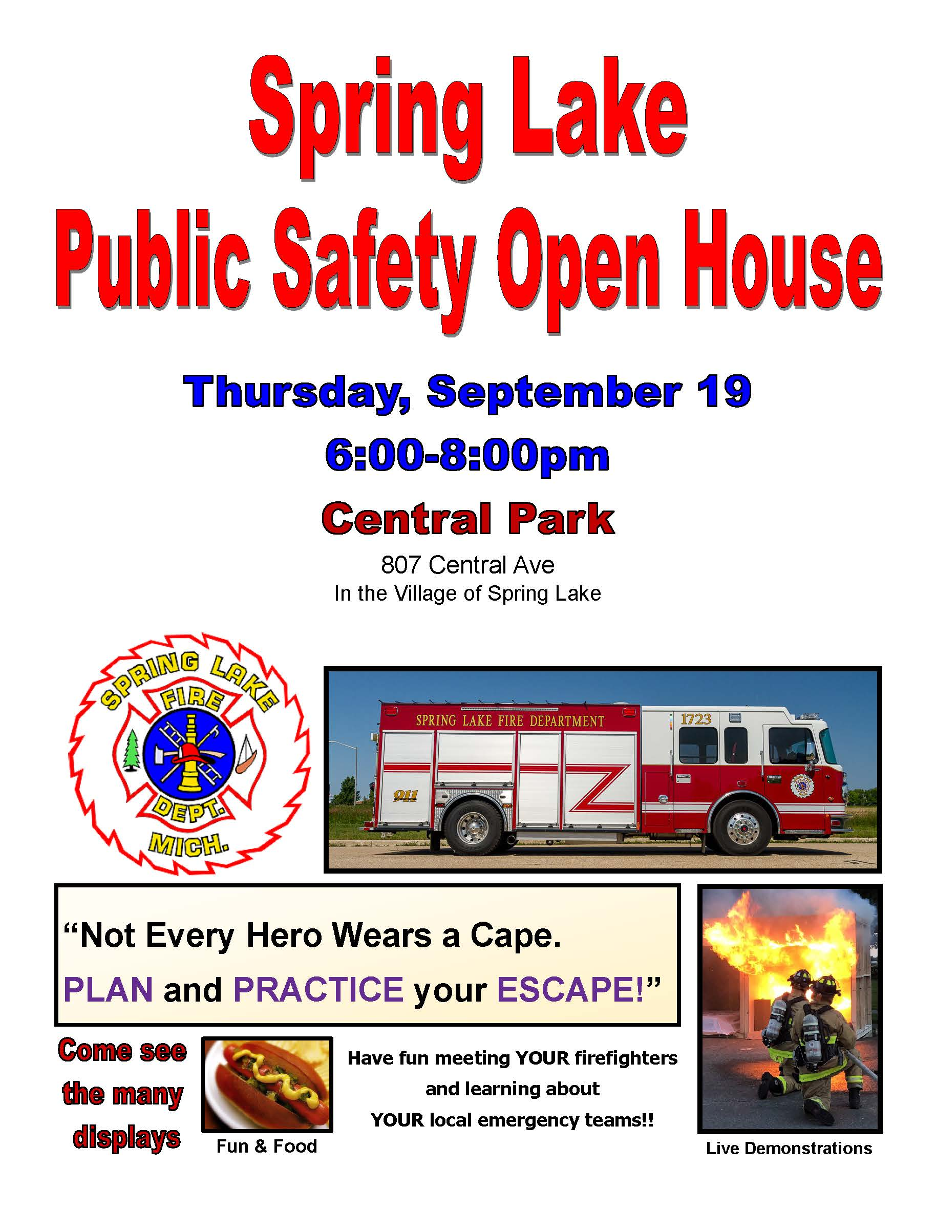 Fire Prevention open house 9/19/19
