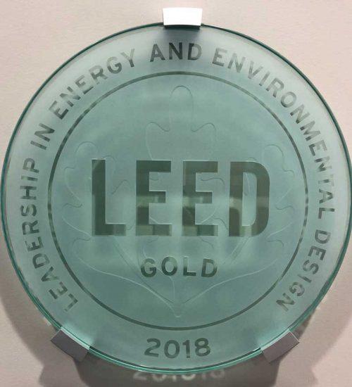 LEED award plaque