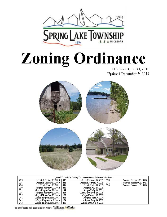 Zoning Ordinance cover page
