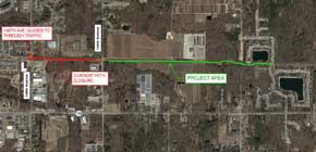 map of 148th Ave construction project